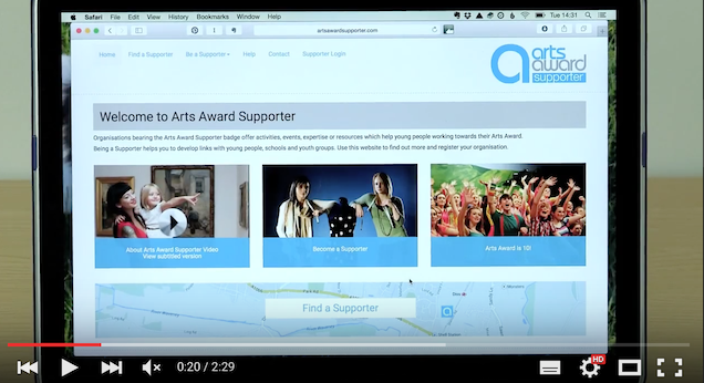 What is Arts Award Supporter